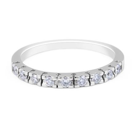 18 Karat White Gold Traditional claw set diamond Wedding Band