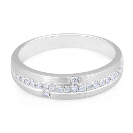 18k white gold diamond wedding rings
