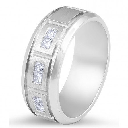 9 Karat Diamond  mens wedding bands Melbourne