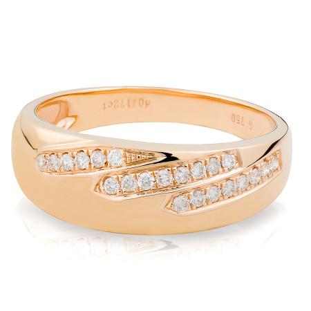 Diamond Ring Set in 18 Karat Rose Gold