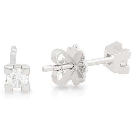 Diamond Stud Earring set in 18 Karat White Gold