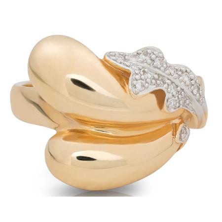 Diamond Cocktail Ring Set in 14 Karat Yellow Gold