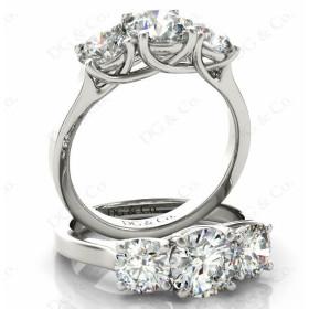 Brilliant Cut Diamond Trilogy Cross Over Ring Setting