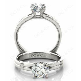 Brilliant Cut Four Claw Set Diamond Ring.
