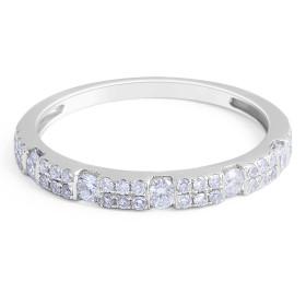 18 Karat White Gold Classic modern Style Diamond Wedding Band