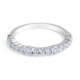 18 Karat White Gold Modern style Diamond Wedding Band