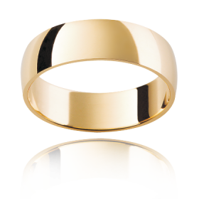 Gents Wedding Band with Low Half Round
