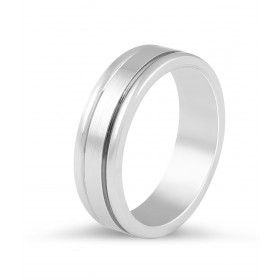 Gents Wedding Band with double inlay feature