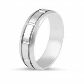 Gents Wedding Band with inlay feature