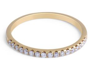 18 Karat Yellow Gold Classic diamond wedding band