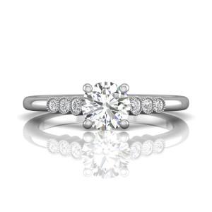 Vintage Milgrain Diamond Engagement ring