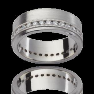 18K White Gold Diamond Wedding Ring