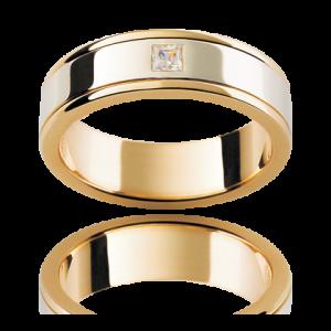 18K White And Yellow Gold Gents Diamond Wedding Band