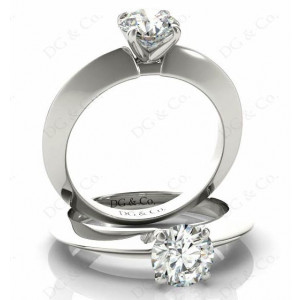 Brilliant Cut Classic Four Claws Diamond Solitaire Ring