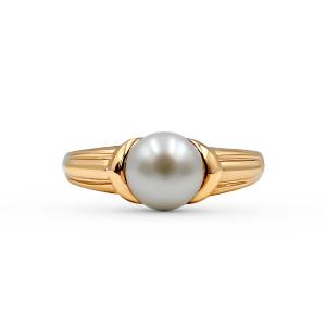 9K Rose Gold Fresh Water Pearl Ring