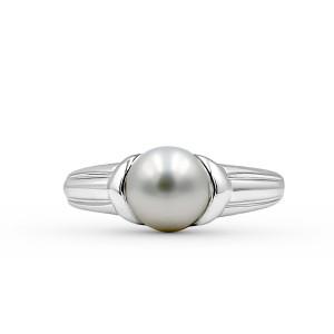 9K White Gold Fresh Water Pearl Ring