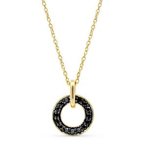 Black Diamond Pendant Pave Setting