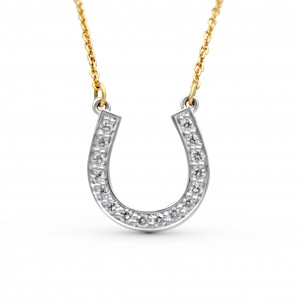 18K White and Yellow Gold Diamond Pendant