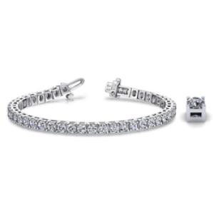 Platinum Tennis Bracelet four Prong -Platinum-Tennis Bracelet