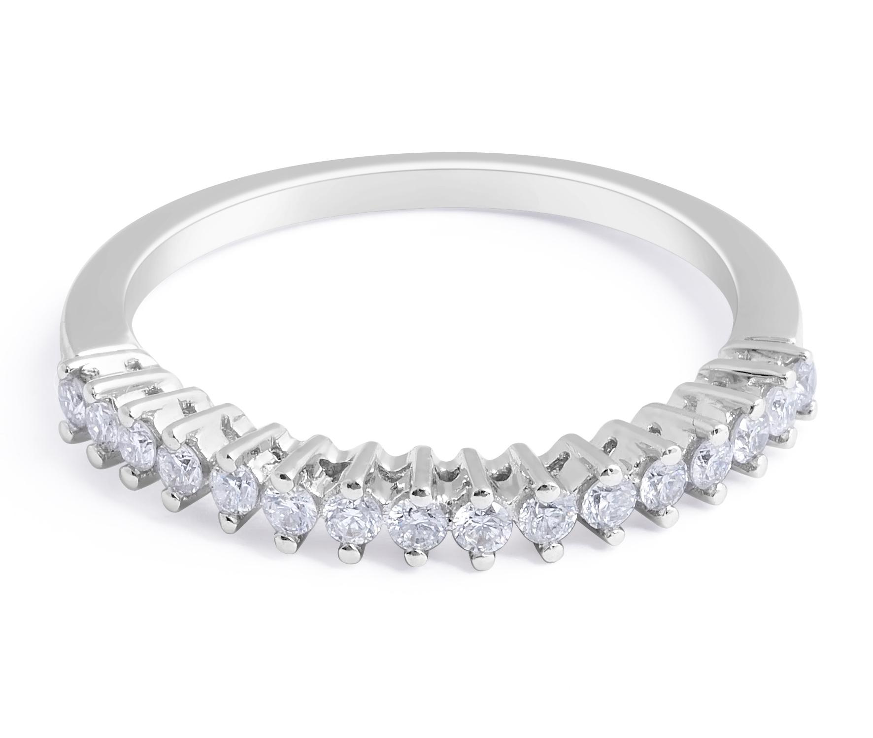 18 Karat White Gold Diamond wedding in Prong Setting