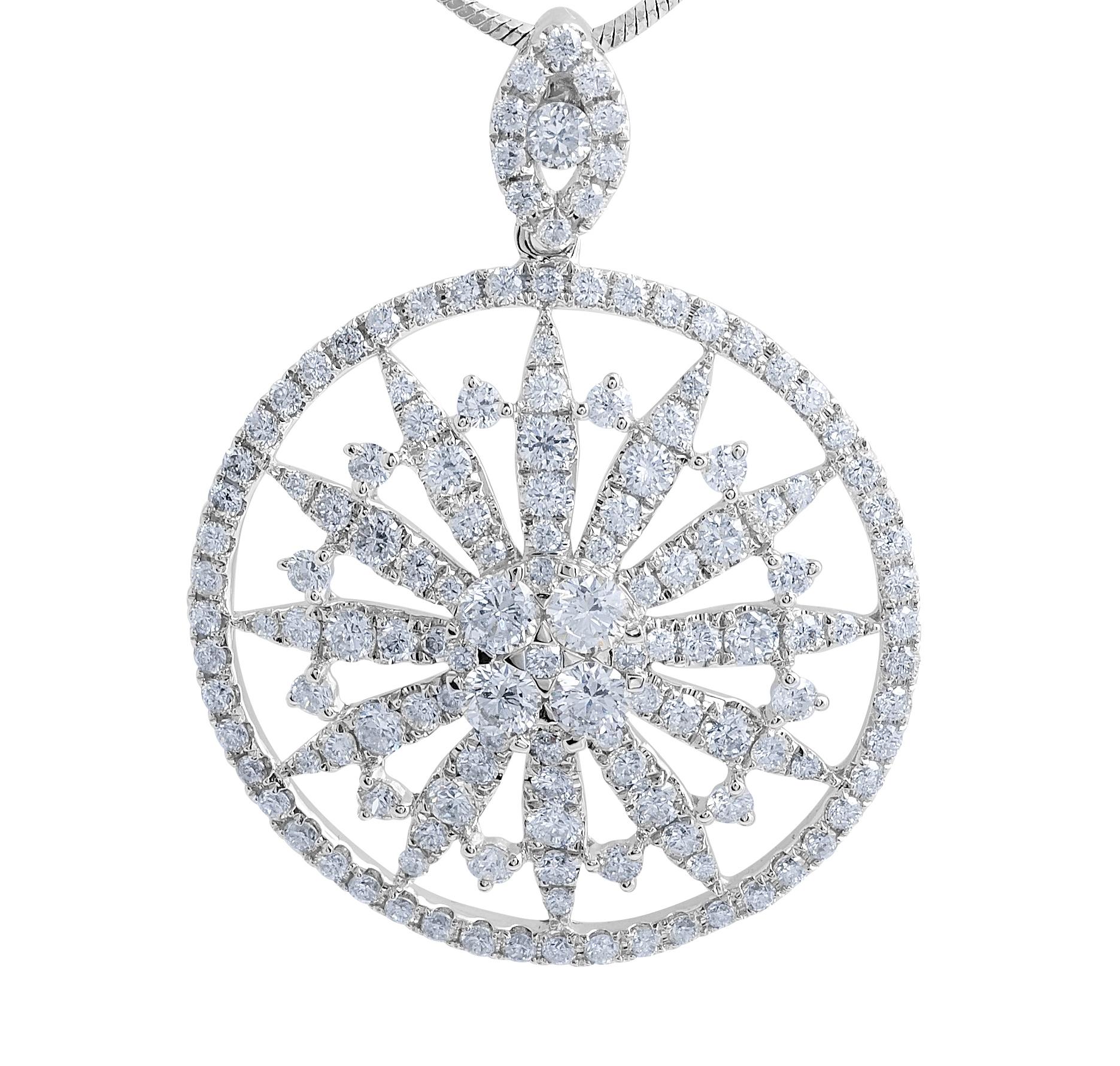 18 Karat Moden diamond pendant - gemstone